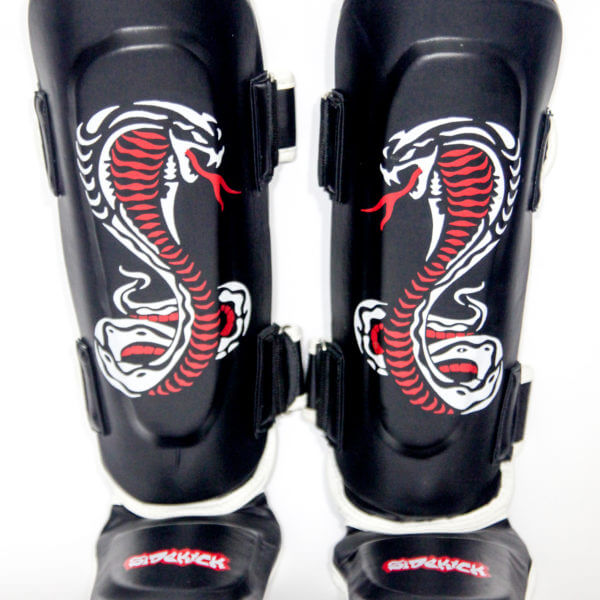Kids Cobra Series Shin Instep Pads Black