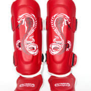 Kids Cobra Series Shin Insteps Red