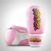Graffiti Boxing Gloves Pink