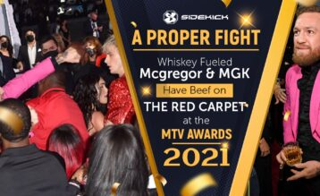 McGregor and MGK have fight at the MTV awards